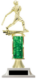 Green Baseball Trophy with Riser Option
