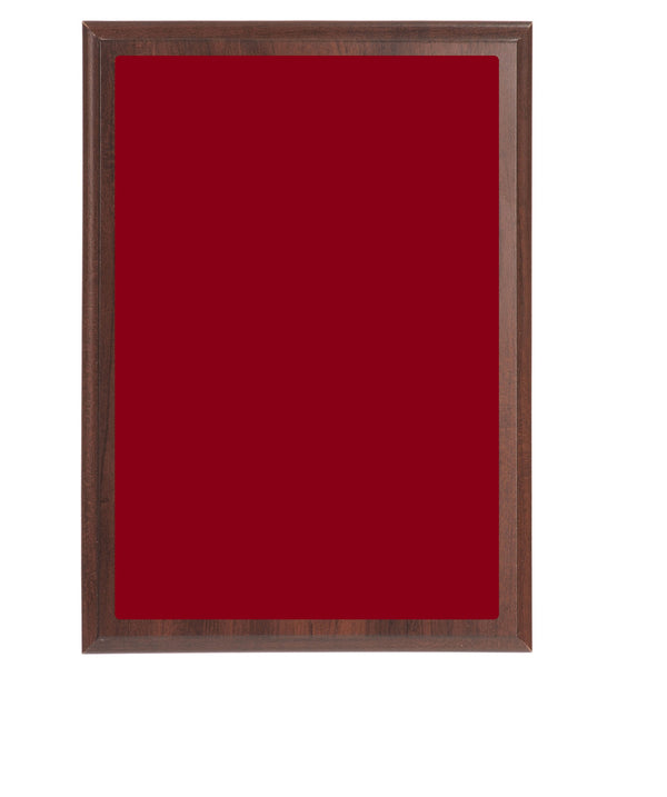 Value Wall Plaques Red Brass Plates Cherry Finish Board