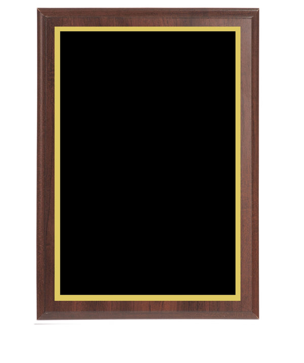 Value Wall Plaques Black Brass Plates Cherry Finish Board
