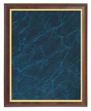 Value Cherry Finish Plaque - Blue Marble Brass - Multiple Sizes