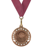 Boys Basketball Medal available in Gold, Silver, and Bronze