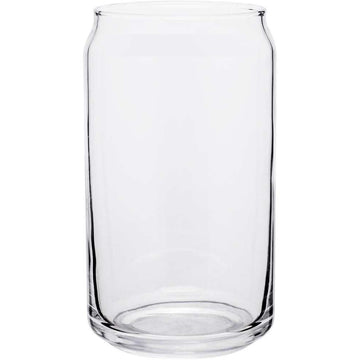 Libbey Beer Can Glass with Personalized Laser Etching