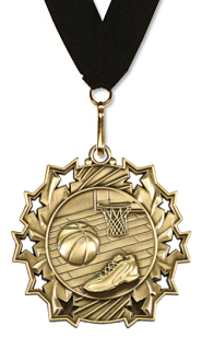 Basketball Medal | Rising Stars | Gold, Silver, & Bronze - Boys Edition