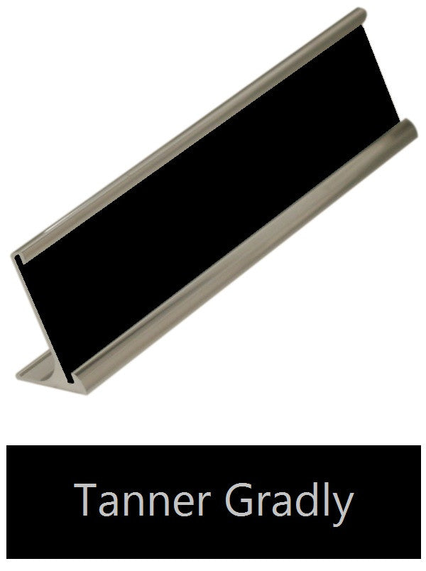 Desk Name Plate Silver Aluminum Amazing Price