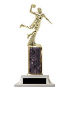 Wow! Black Boys Basketball Column Trophy - Build-a-Trophy
