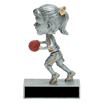Basketball BobbleHead Trophy - Girls Basketball Bobble-Head