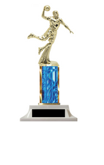 Wow! Blue Boys Basketball Column Trophy - Build-a-Trophy