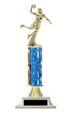 Boys Basketball Column Trophy - Design Your Own - Choose a Color