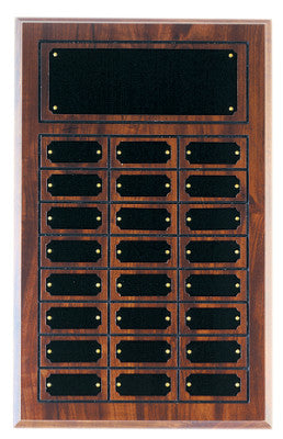 Cherry Finish Perpetual Plaque | Cherry Finish Board | Holds 24 Plates