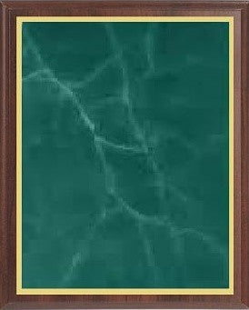Value Cherry Finish Plaque - Green Marble Brass - Multiple Sizes