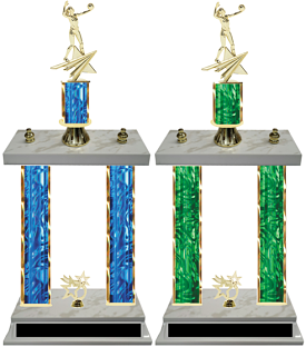 Double Column Volleyball Team Trophy Available in 8 Colors