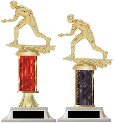 Column Trophy Male Wrestler Free Engraving!