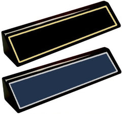 Desk Name Plate Black Piano Finish Choose a Color