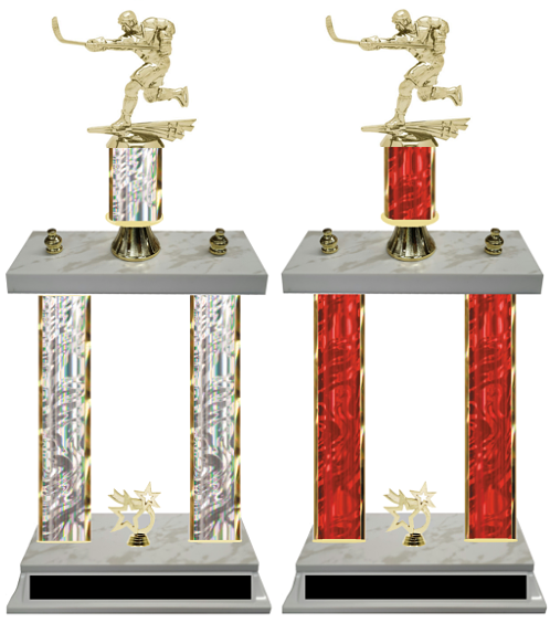 Hockey Double Column Trophy Available in 8 Colors Free Customization