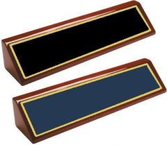 Desk Name Plate Rosewood Piano Finish