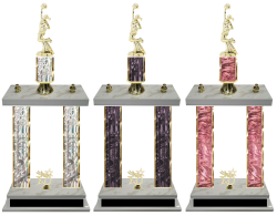 Cheerleading Double Column Team Trophy Available in 8 Colors