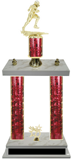 Football Double Column Team Trophy Available in 8 Colors Build Your Own