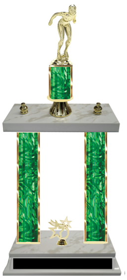 Female Swimmer Double Column Trophy