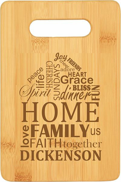 Bamboo Cutting Board Home Design with Personalized Options 3 Sizes