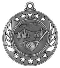 "Golf Medal 2 1/4"" Galaxy Medallion Gold, Silver, Bronze"