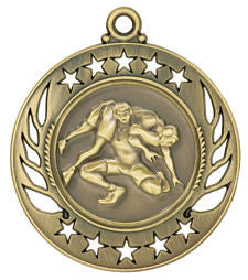Wrestling Medal Galaxy Edition Gold, Silver & Bronze