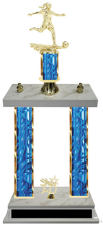 Double Column Trophy Girls Soccer Team Customize Yours Today