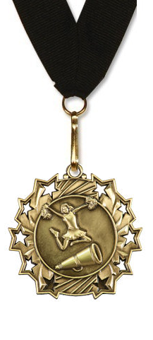 Cheer Medal (Large) Rising Stars Edition in Gold, Silver, & Bronze