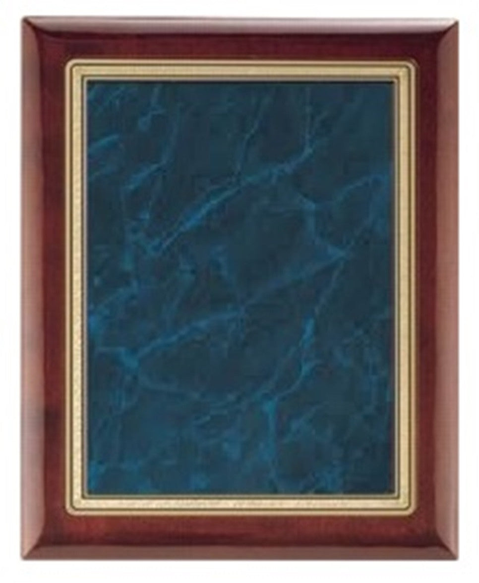 Rosewood Plaque with Blue Marble Plate