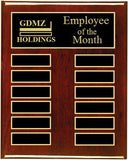Employee of the Month Plaque | Rosewood Piano Finish Board | Holds 12 Plates