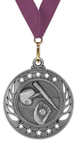 Medal (Galaxy) Girls Softball Free Engraving