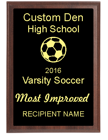 Inexpensive High School Soccer Plaques