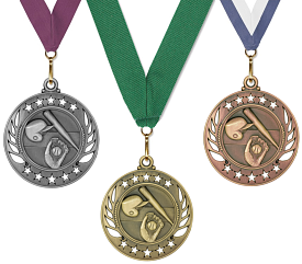 Baseball Medal - Galaxy - Gold, Silver, & Bronze
