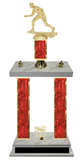 Wrestling Double Column Team Trophy Available in 8 Colors