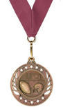 Football Medals Galaxy Edition in Gold, Silver & Bronze Free Engraving