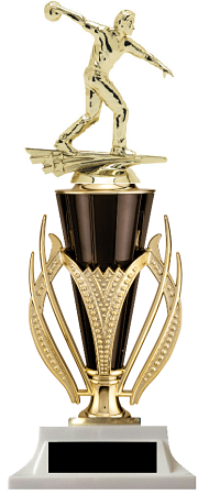 Black & Gold Cup Trophy Female & Male
