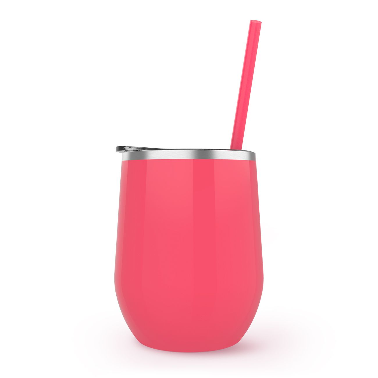 Maars Stemless Stainless 12oz.  | Coral