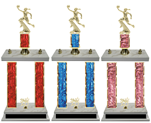 Basketball Double Column Team Trophy in 8 Colors