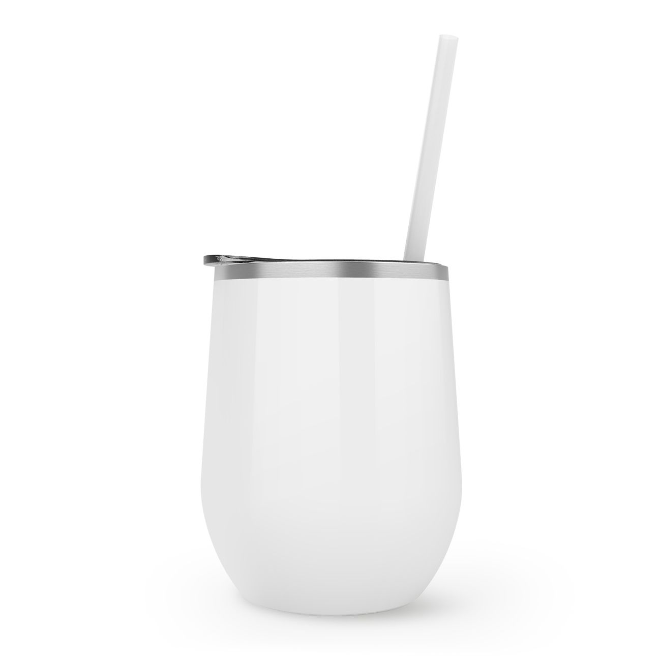 Maars Stemless Stainless 12oz.  | White