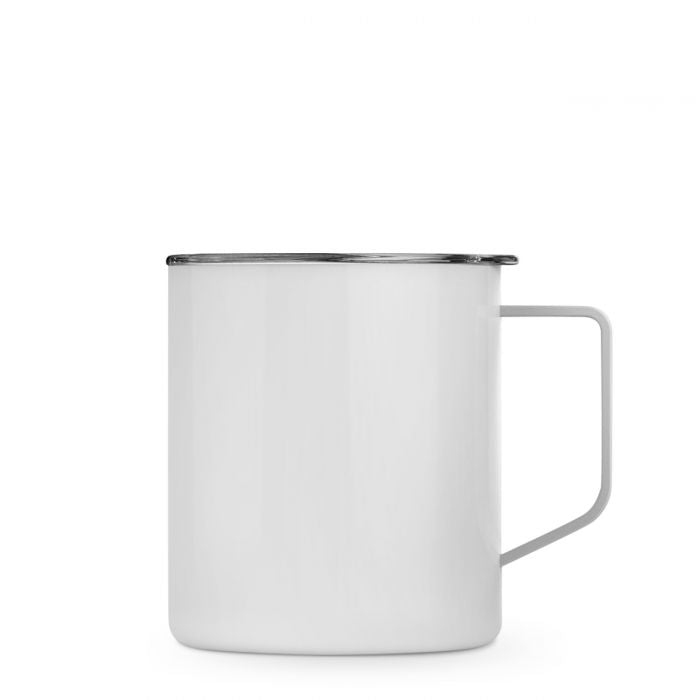 Maars Stainless Steel Townie Mug White