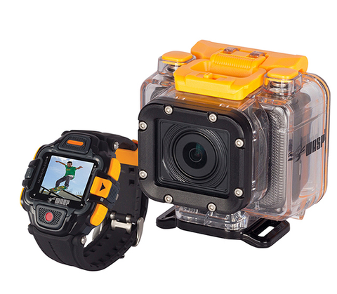 WASPcam 9902 GIDEON Action-Sports Camera W/LVD Wrist Remote