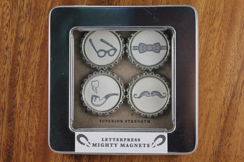 Letterpress Gentleman Magnets