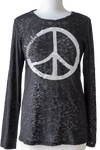 Bella Peace Black Burnout
