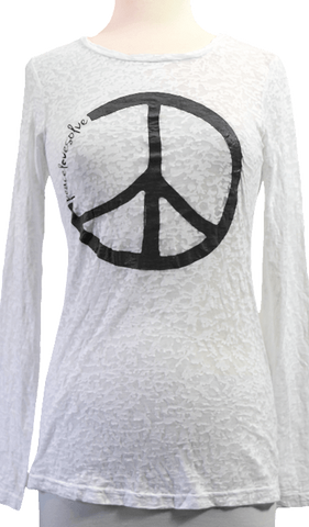 Bella Peace White Burnout
