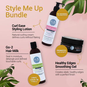 Style Me Up | Curl Defining Leave In Conditioner, Smoothing Gel and Styling Lotion for Curly Hair