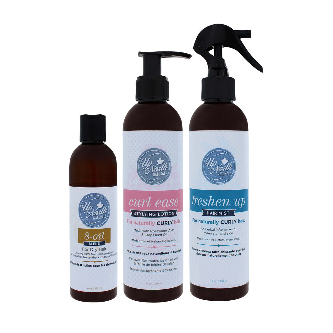 L.O.C Trio | Hair Mist, Styling Lotion and Essential Oils for Dry Damaged Hair