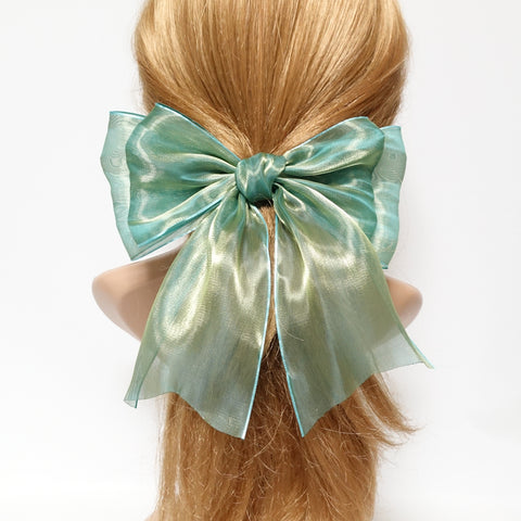 organdy mesh tail hair bow
