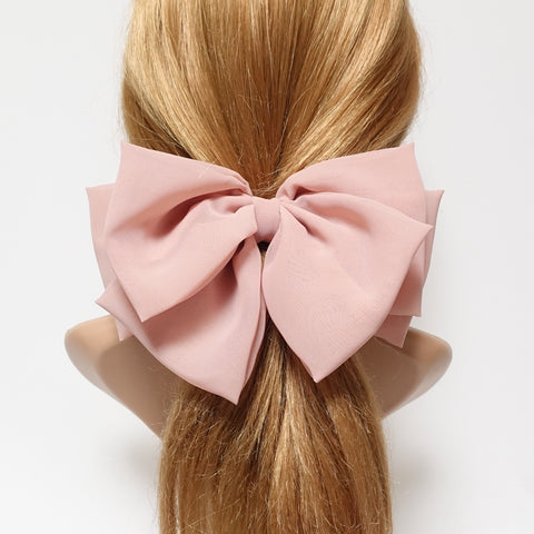 chiffon layered hair bow