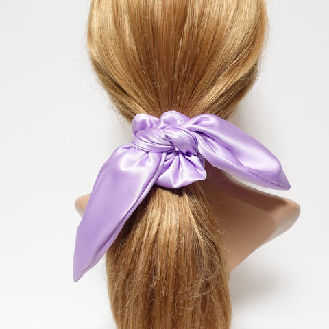 satin bow knot tail scrunchies