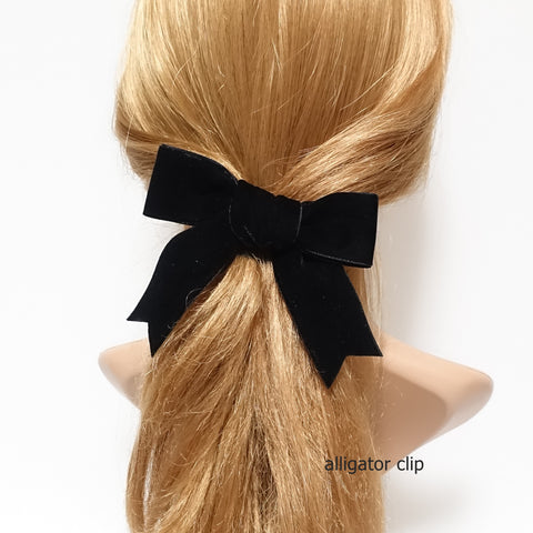 black velvet bow hair clip barrette
