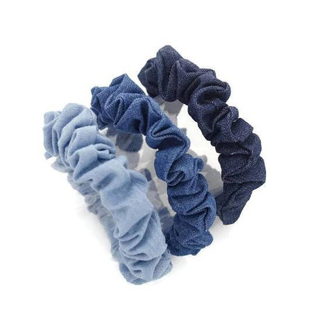 denim scrunchies